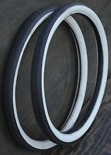 "26"" Carlisle Whitewall Lightning Dart Bike TIRES Prewar Schwinn Cruiser Bicycle"