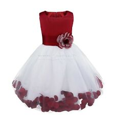 Petals Flower Girl Kids Pageant Wedding Formal Bridesmaid Party Princess Dress