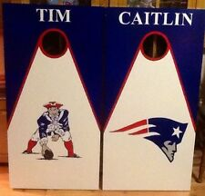 New England Patriots Custom Made Cornhole boards and Free Bags