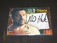Grimm Autograph Trading Card Brad William Henke as Hap Lasser #BHAC-2