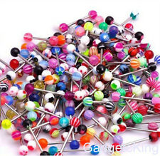 Lot  Tongue Bars Wholesale Body Piercing Jewellery Body Jewellery