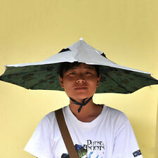 Headband Anti-UV Umbrella Hat Cap Foldable Outdoor Sports Fishing Camp Hand-Free