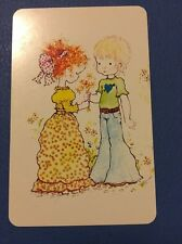1970's B/Bs Cute Children Sarah Kay  = 1 Playing Swap Cards   *A102