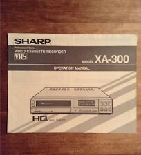 Sharp Original Operation Manual for XA-300 Professional VCR