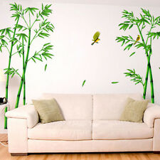 Removable Green Bamboo Mural Poem Art Wall Sticker Decal Home Living room Decor
