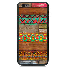 CA HOT Aztec Andes Tribal Wood Style Hard Case Cover Skin For iPhone 6