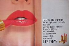 PUBLICITÉ 1967 LIP DEW ROUGE A LÈVRES HELENA RUBINSTEIN - ADVERTISING