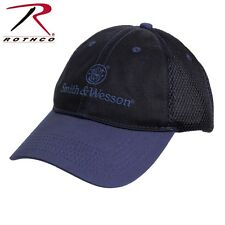 Smith & Wesson Mesh Baseball Hat Black And Blue Cap 3721