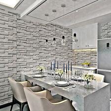 Simplicity 3D Brick Stone Wallpaper Roll Textured Art Wall Paper Decor TV Back