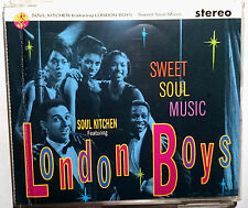 """LONDON BOYS Featuring SOUL KITCHEN """"Sweet Soul Music"""" 3-Track-Maxi-CD 1991"""