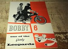 1956 ? LEOPARD BOBBY 6  SCOOTER UK Orig Sales Brochure VERY RARE
