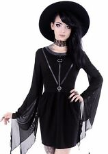 COVEN TUNIC Black gothic dress, leather straps, witchcraft fashion