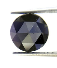 1.37 Cts 6.6 MM Round Rose cut Jet Black AAA Color African Natural Loose Diamond