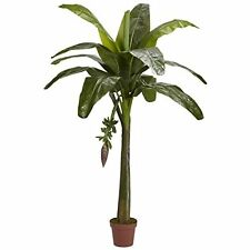 Nearly Natural 5338 6' Banana Silk Tree (Real Touch) NEW
