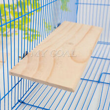 Parrot Bird Standing Platform Wood Square Cage Board Hamster Pet Budgie Hang Toy