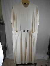 WOMANS NATURAL UNDYED COTTON DESIGNER DRESS MAXALTO PITTSBURGH PLUS 1X 2X