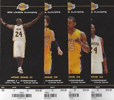 2013 NBA LAKERS NBA FINALS PLAYOFFS FULL UNUSED TICKETS - ALL 4 HOMES GAMES
