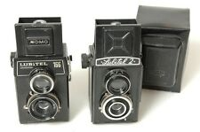 LOMO LUBITEL 166 AND LUBITEL 2 TLR 6X6CM ONE WORKS ONE FOR PARTS OR REPAIR.