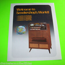 SMOKESHOP APOLLO II SERIES By AUTOMATIC PRODUCTS CIGARETTE VENDOR FLYER BROCHURE