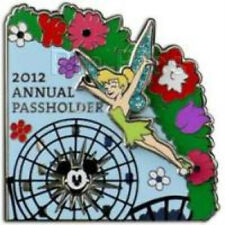 Disney Pin New On Card DLR 2012 Annual Passholder Puzzle FunWheel TinkerBell LE