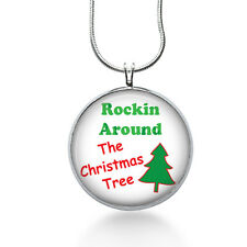 Rockin Tree Pendant Necklace, Christmas Tree Pendant, Christmas, necklaces