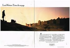 Publicité Advertising 1984 (2 pages ) Maroquinerie bagages Louis Vuitton