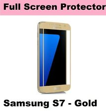 REAL TEMPERED GLASS FILM LCD SCREEN PROTECTOR FOR SAMSUNG GALAXY S7 - GOLD