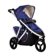 Phil & Teds 2014 New Vibe V3 Stroller & Double Kit Cobalt - Includes Double Seat