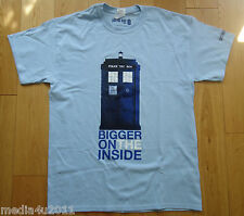 DOCTOR WHO BIGGER ON THE INSIDE TARDIS BBC TV COLLECTOR'S T SHIRT LARGE NEW