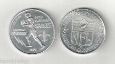 Vintage 1970 NEW ORLEANS SAINTS SAN DIEGO CHARGERS PROGRAM FOOTBALL COIN TOKEN