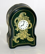"VINTAGE ""AFTER EIGHT MINTS"" TIN MANTLE CLOCK SHAPED - EMBOSSED"