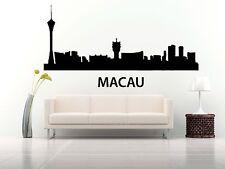 Wall Vinyl Sticker Decal Skyline Horizon Panorama City Macau China World F1752