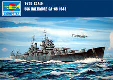 Trumpeter 05724 1/700 Scale USS BALTIMORE Cruiser CA-68 1943 Static Warship WOWS