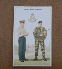 Military Uniforms Postcard Military Provost Staff Corps  Unposted