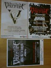 Bullet For My Valentine Scottish tour concert gig posters x 3