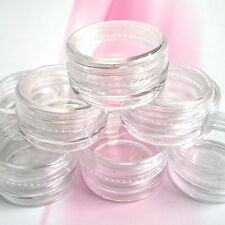 5pcs Nail Art Empty Pots Container Clear Craft Rhinestones Beads Storage 3g Box