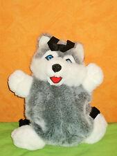 Occasion peluche sac à dos chien HUSKY haut: 35 cm
