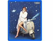 Vintage Vespa Scooter Pin Up 1960 Refrigerator / Tool Box Magnet Man Cave