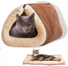 2 in 1 incredibili Magic Self HEATING Caldo Termico Copertura Per Animali TUNNEL Letto Gatto Cane Cucciolo