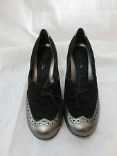 AEROSOLES SPECTATOR STYLE GREY & BLACK PUMPS SHOES 9M roller coaster