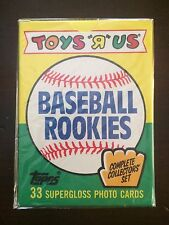 """1989 Topps Baseball Toys """"R"""" Us Rookies Set Box - 33 Card Count"""