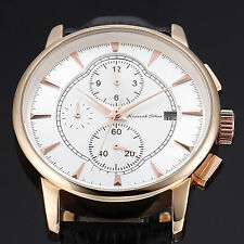 Imperial KS Men's Date Day Rose Gold Case Automatic Mechanical Wrist Watch+Box