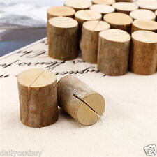 50x Wooden Wood Place Card Name Holders Restaurant Party Rustic Wedding