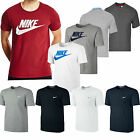 New Mens Nike Athletic Crew Neck Embroidered White Swoosh Casual T-Shirt Top
