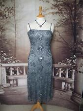 PHASE EIGHT Dress 10 Beads&Sequins Grey Lace Evening/Gatsby/Downton 20s Flapper?