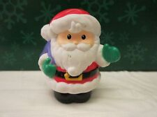 Fisher Price Little People Christmas Santa Claus purple bag train twas night Toy