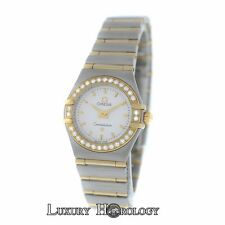 Omega Constellation Diamond Bezel Full Bar 18K Yellow Gold  22MM Quartz Watch