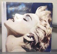 "Madonna True Blue 12"" LP W/Poster Sire 9 25442-1 Electronic Pop 1986 Excellent-"