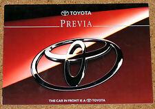 1994-95 TOYOTA PREVIA Sales Brochure - GL, GX