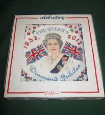 Cath Kidston Diamond Jubilee Queen Elizabeth 1952-2012 Fine China Plate NIB Rare